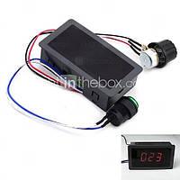 Контроллер регулятор скорости вращения двигателя постоянного тока 10V-60V 6A c дисплеем