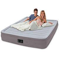 Велюровая надувная двуспальная кровать Intex 67770