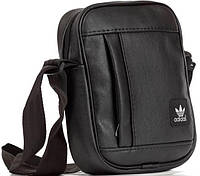 Шкіряна сумка барсетка Adidas, планшет через плечо  реплика, фото 1
