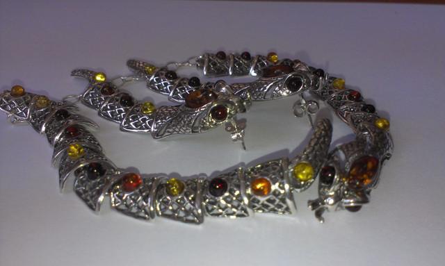 Новая коллекция эксклюзивных серебряных украшений с янтарем!