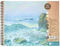 Альбом для пастели Aquamarinе, 24х30см, 160г/м2, 54л., Лилия Холдинг