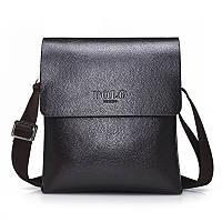Стильная брендовая мужская кожаная сумка Polo
