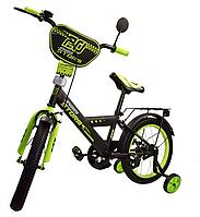 Велосипед двухколесный 16 дюймов Спорт 181642 зеленый ***