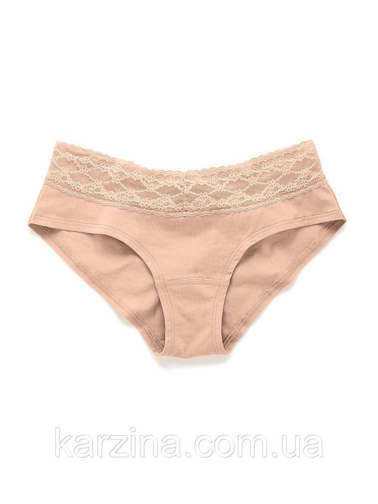 Трусики Victoria's Secret Cotton Lace-waist Hiphugger р.М