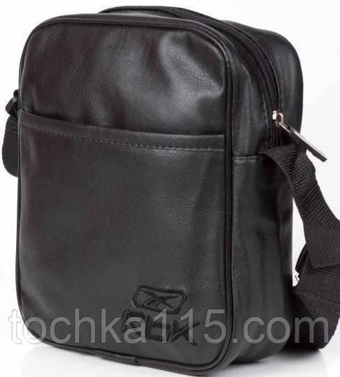 Мужская барсетка reebok малая, логотип Rbk черный  реплика