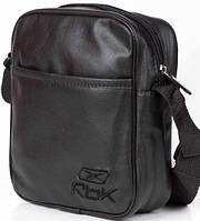 Мужская барсетка reebok малая, логотип Rbk черный  реплика, фото 1