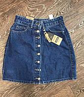 Джинсовая юбка на пуговицах , фото 1