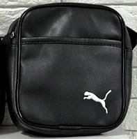 Мужская барсетка PUMA малая, логотип белый  реплика, фото 1