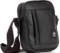 Шкіряна сумка барсетка Adidas, планшет через плечо  реплика