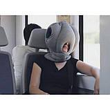 Подушка-страус ostrich pillow для послеобеденного сна на работе или отдыха в дороге, фото 3
