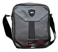 Мужская сумка Nike, мессенджер, сумка на плече, кожаная сумка через плече реплика черный  реплика