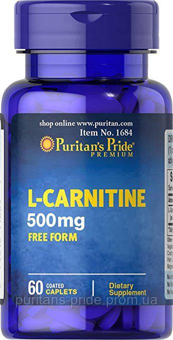 Л-Карнітин, Puritan's Pride L-Carnitine 500 mg 60 Caplets
