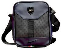 Мужская сумка Nike, мессенджер, сумка на плече, кожаная сумка через плече реплика синий  реплика