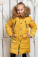Зимнее пальто-парка Кнопка для девочки