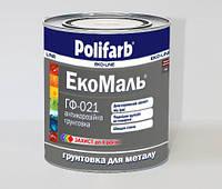"""Грунтовка ГФ-021 """"Экомаль"""" для металла (антикоррозийная) Цвет Серый 2,7 кг производитель Polifarb, фото 1"""