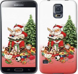 "Чехол на Samsung Galaxy S5 g900h Дед Мороз с подарками ""219c-24-328"""