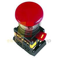 """Кнопка AEAL-22 """"Грибок""""с фиксацией красный d22мм  240В 1з+1р ИЭК"""
