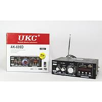 Простой усилитель звука UKC AK-699D c  USB, SD, FM