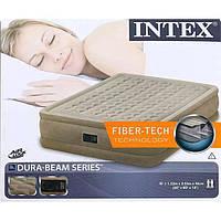 Надувной матрас кровать со встроенным электронасосом Intex 64458 152*203*46см