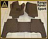 Коврики из экокожи Range Rover Sport (кузов №1 / 2005-2013) Кофейные