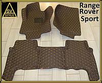 Коврики из экокожи Range Rover Sport (кузов №1 / 2005-2013) Кофейные, фото 1