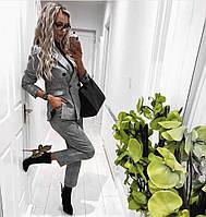 Женский стильный тиаровый костюм-двойка брюки и пиджак