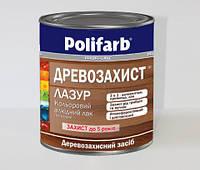 """ЛАЗУРЬ """"Древозахист"""" алкидный цветной лак Цвет Темный дуб 0,7 кг производитель Polifarb, фото 1"""