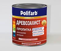 """Пропитка """"Древозахист"""" для дерева алкидная Безцветный 0,7 кг производитель Polifarb"""