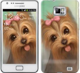 "Чехол на Samsung Galaxy S2 i9100 Нарисованный йоркширский терьер ""928c-14-328"""