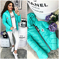 473d7b9652fa Интернет магазин женской одежды Khan. г. Одесса. Куртка парка весна осень  2018, модель 210 7, бирюза (ментол)