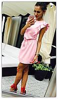 """Платье летнее короткое волан с красивой спинкой """"Deva"""" 2P/NS 2008"""