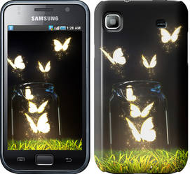 "Чехол на Samsung Galaxy S i9000 Светящиеся бабочки ""2983c-77-328"""