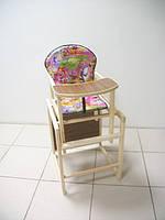 """Деревянный стульчик-трансформер для кормления """"Карапуз"""".Расцветки в ассортименте."""