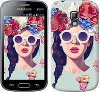 "Чехол на Samsung Galaxy S Duos s7562 Девушка с цветами ""2812c-84-328"""