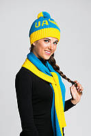 Комплект женский шапка и шарф, фото 1