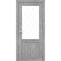 Межкомнатная дверь Classico CL-01 с белым стеклом без штапика