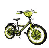 Велосипед двухколёсный  20 дюймов Танки 182048 салатовый ***