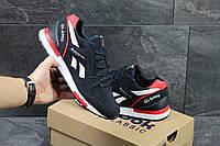 Замшевые мужские кроссовки Reebok GL6000,т.синие с красным