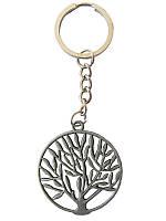 Брелок металлический Дерево в кругу (Сувенирные брелки)