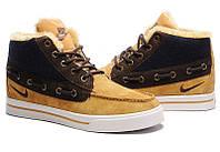 Кроссовки Nike High Top Fur Мужские горчичные, фото 1