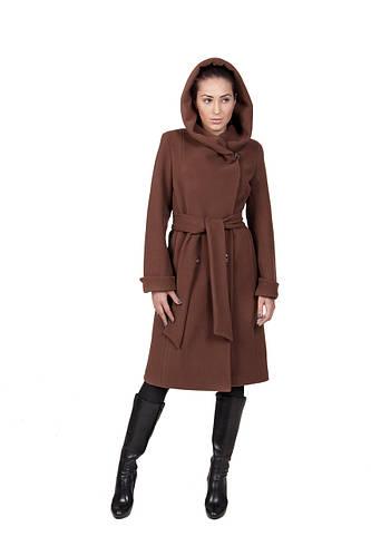 Пальто кашемировое зимнее шоколад Д 308
