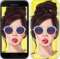 "Чехол на Samsung Galaxy A3 (2017) Девушка с чупа-чупсом ""3979c-443-328"""