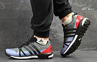 Кроссовки мужские Adidas Terrex Boost, серые с красным