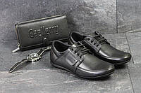 Мужские спортивные туфли VanKristi, черные, натуральная кожа