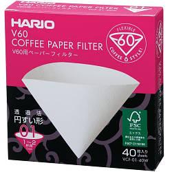 Бумажный фильтр Hario 01 40W белый (VCF-01-40W)