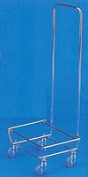 Тележка для закупочных корзин с ручкой.