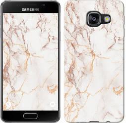 "Чехол на Samsung Galaxy A3 (2016) A310F Белый мрамор ""3847c-159-328"""