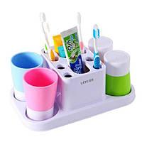 Набор принадлежностей аксессуаров для ванной комнаты с дозатором пасты Happy family Wash gargle suit RY-808 Код: 653678494