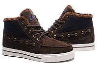 Кроссовки Nike High Top Fur Мужские коричневые, фото 1
