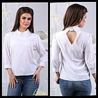 4444ff2de827ad1 Модная блуза Astrid с красивыми бусинками и модным рубашечным воротником (2  цвета) (132